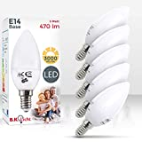 LED Lampe | E14 5er Set| LED Birne 5 Watt 470 Lumen | Leuchtmittel ersetzt Glühbirne 40 Watt | warmweiss 3000K | Abstrahlwinkel 180°