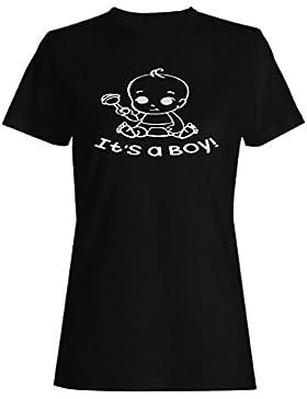 Es Un Chico Negro camiseta de las mujeres k865f