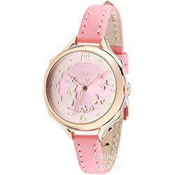 ufengke® unique luxury casual ladies women girls watch-pink strap gold pink dial