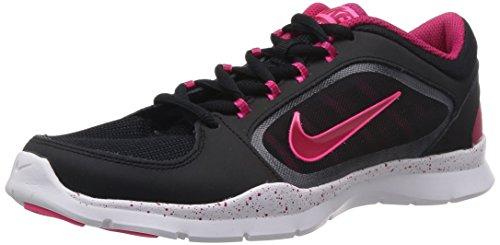 NIKE Flex 4, Scarpe da ginnastica Donna Nero (Schwarz (Black/Fuchsia Force/Hyper Pink/Hyper Pink))