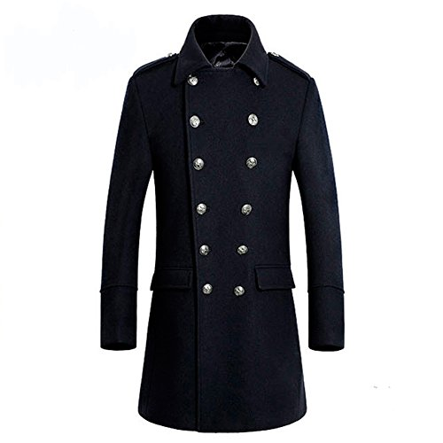 TongZemeng -  Cappotto  - Parka - Uomo Black (Nero Sport Coat Blazer)
