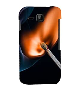 printtech Match Fire Macro Back Case Cover for Micromax Bolt S301
