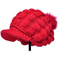Caldo spesso in autunno e inverno moda lana palla basco/