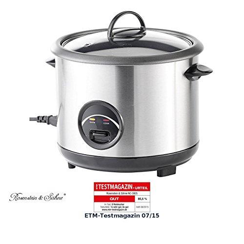 Rosenstein & Söhne Reistopf: Edelstahl-Reiskocher 1,5 Liter (Reiswärmer)