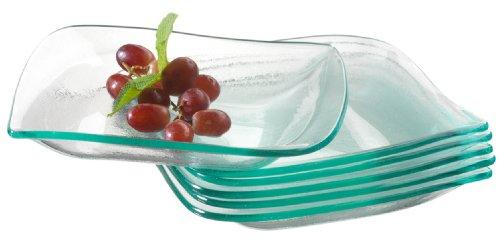 Mäser, Serie La Musica, Schüssel aus Glas, 20 cm, Dessertschalen im 6er-Set