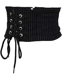 B Baosity Cinturón Ancho Elástico con Cordones Corset Waistband Decorativa  para Vestido Falda Túnica fb90b29fc5cc
