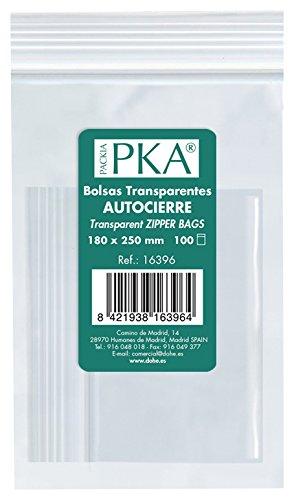 PKA 16392–Confezione di 100sacchetti di plastica richiudibili, 80x 120mm