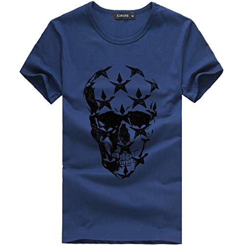 Angebote,Neue Deals,Herren T-Shirt Ronamick Katzen Männer Druck Tees Shirt Kurzarm T Shirt Bluse Runde Kragen - Neue Herren T-shirt Tee