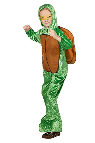 ildkröte Kinder grün mit Panzer Voll-Plüsch 152 (Plüsch Schildkröte Kinder Kostüme)
