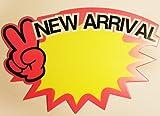 Nouvel arrivant Afficher cartes promotionnelles de vente, magasins de détail, un paquet de 10, Grand 175x120mm