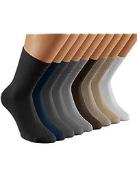 Vitasox Socken Bambus einfarbig Bambussocken Damen und Herren ohne Gummi ohne Naht 6er und 12er Pack