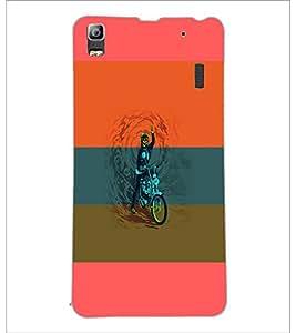 PrintDhaba Bike D-5952 Back Case Cover for LENOVO A7000 TURBO (Multi-Coloured)