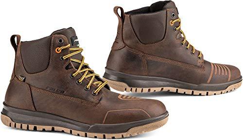 Falco Patrol - Scarpe impermeabili in pelle con protezioni per caviglia D3O CE, colore: Marro