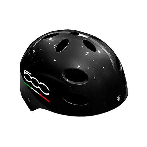 Fiat500hlxl-k Casco per Monopattini e Skateboard, Nero, XL