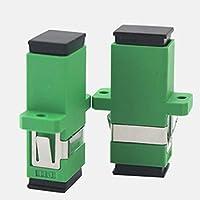Greatangle Acoplador de fibra simplex SC/aPC Conector de fibra monomodo Adaptador de fibra verde