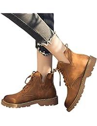 a3eec0733589d OHQ Martin Bottes avec des Chaussures AntidéRapantes Vert Militaire Brun  Noir Femmes Low Cheville Garniture Plat
