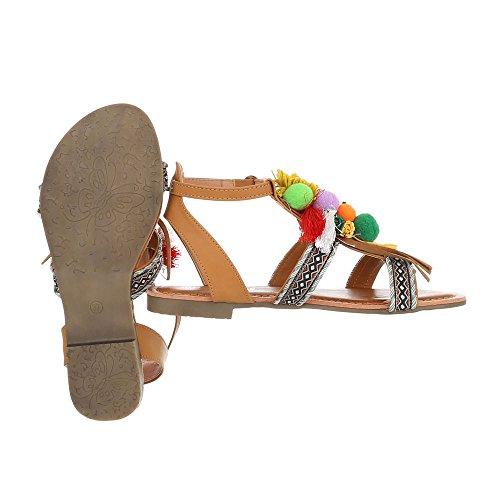Ital-Design - Scarpe con cinturino alla caviglia Donna Marrone chiaro