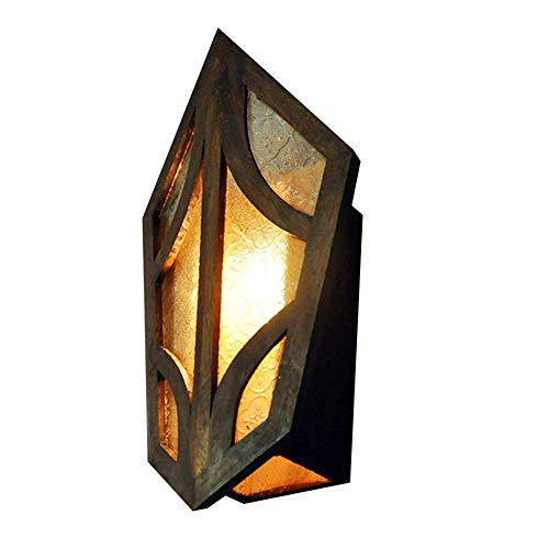 Aussenlampe Wandbeleuchtung Wandlampe Wandleuchte Innen Metall Edelstein Wandleuchte Industrielle Retro Turtle Shell Wandleuchte Vintage Steampunk Old Fashioned Glas Wandleuchte Laterne