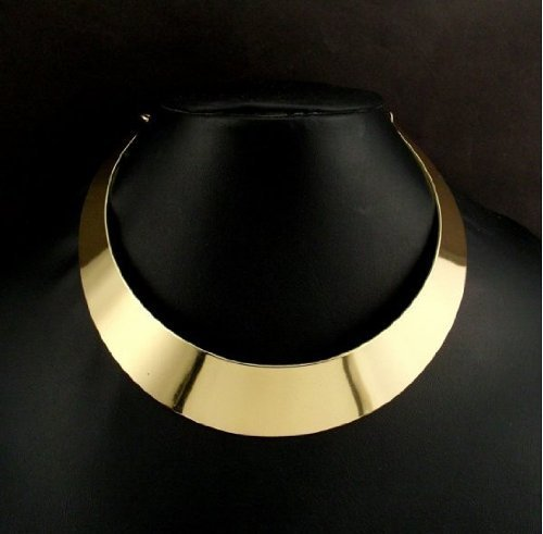 just-in-case-trading-ltd-gold-or-silver-choker-collar-necklace-with-chain-vintage-1st-class-delivery