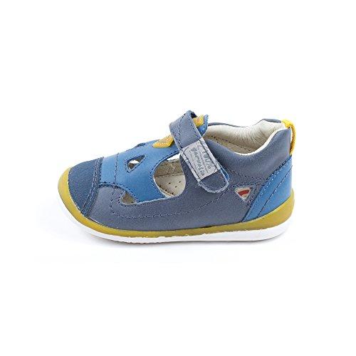 Baskets bleu 142335A - Garvalin Bleu
