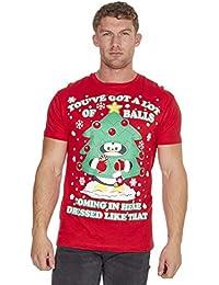 bebcb6c1bb ... for Clothing   Cargo Bay. Adults Christmas Design Printed Cotton T-Shirt