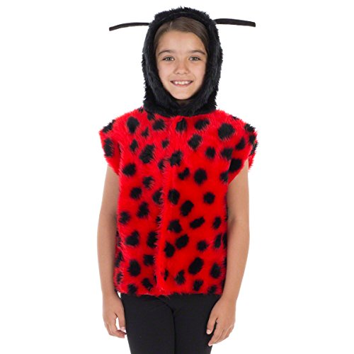 Marienkäfer Kostüm Für Kinder - Einheitsgröße 3-9 Jahre. (Supplies Party Insekten)