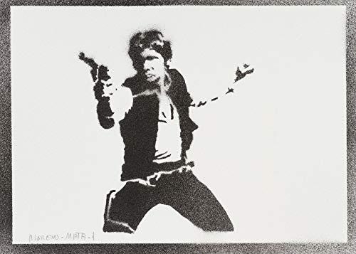 moreno-mata Han Solo Star Wars Handmade Street Art -
