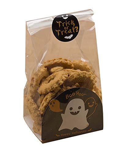 Black Temptation Pack von 50 niedlichen Süßigkeiten Wrapper Cookie Taschen für Halloween, G1