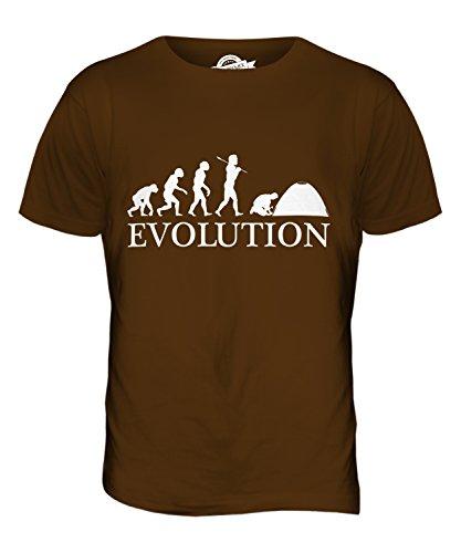 CandyMix Camping Evolution Des Menschen Herren T Shirt Braun