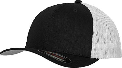 Flexfit Mesh Trucker Cap 2-Tone - Unisex Baseballcap für Damen und Herren, Farbe Black/White, One Size -