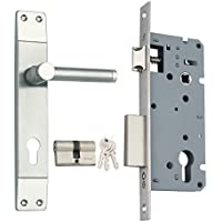 Spider Stainless Steel Mortice Cylindrical Large Lock Complete Set (SS-304 Grade) (SS01J + WCLZBS)
