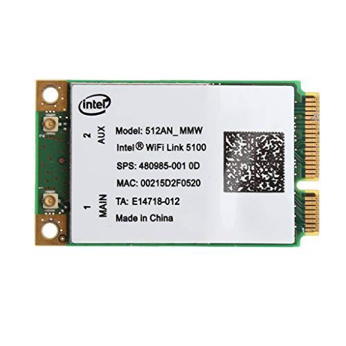 flowerPEI Link 5100 Wireless WiFi Card 512AN_MMW Mini PCI-E Wireless WLAN Card Adapter 2.4/5GHz 300 Mbps Universal Wireless LAN Karte