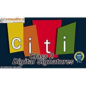 CITI CLASS 2 DIGITAL SIGNATURE FOR GST NO TOKEN AND SUPPORT