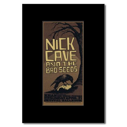 NICK CAVE - Crystal Ballroom Portland Or 2002 Matted Mini Poster - 22.2x10.6cm
