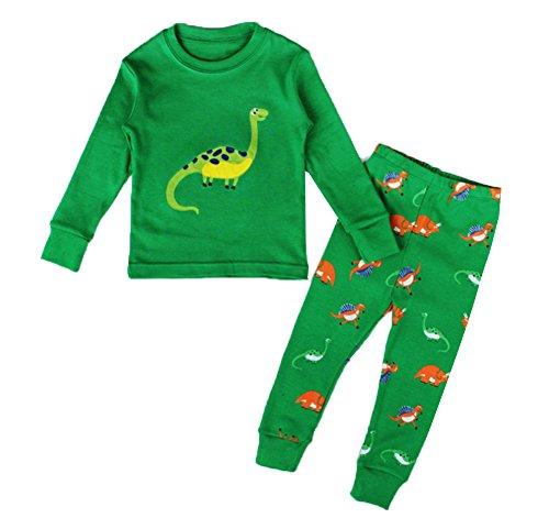 MissFox Lindo Animal Impresión Pijamas Set Para Unisexo Niño Dinosaurio 44 7T