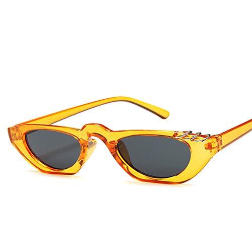 WZYMNTYJ Sexy Cat Eye Sonnenbrille Frauen Shades Berühmte Marke Luxus Trendy Sonnenbrille Kleine Weiße Schwarze Punkte UV400