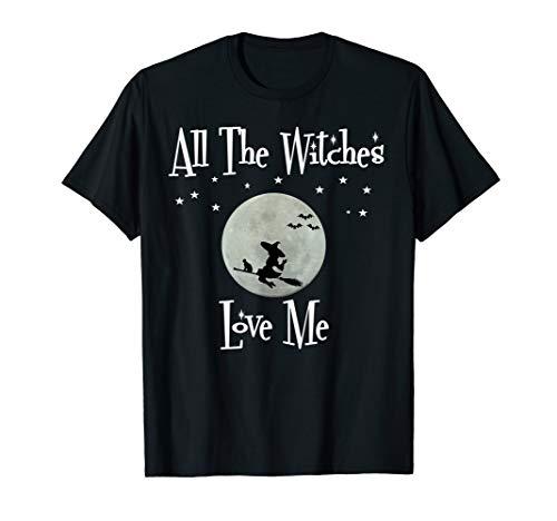 beängstigend Hexen Besen gruselig gruselig Halloween T-Shirt (Beängstigend T Shirt)