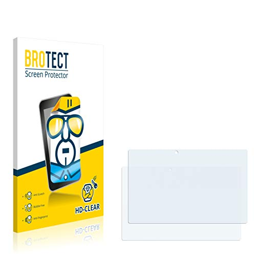 BROTECT Schutzfolie für Blaupunkt Endeavour TV Seven [2er Pack] - klarer Displayschutz