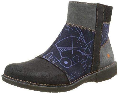 ArtBergen 849 - Stivali classici alla caviglia Donna , Blu (Bleu (Lux Printed Ocean)), 36