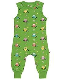 Piccalilly Soft Dungarees - Camiseta de Manga Corta para bebé y niño, diseño de búho, Color Verde