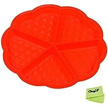 CkeyiN ® Corazón en Forma de Waffles Horneado Molde Cavidad 5 Pasteles para Hornear Herramientas de Bricolaje