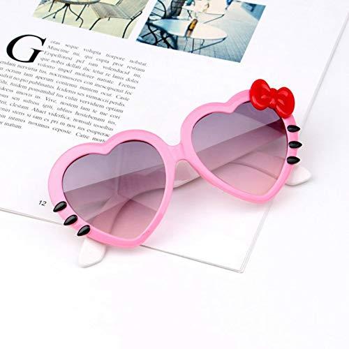 Li Kun Peng Kinder Herz Sonnenbrille Schöne Baby Brille Für Jungen Und Mädchen Kinder Sonnenbrille Shades Für Kinder Ua400,C3Pink