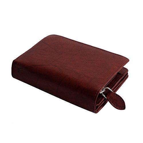 Jennifer Jones classico medio formato donna di cuoio della borsa del portafoglio - presentato da ZMOKA® in vari colori., Chianti-Rust (arancione) - 0 marrone