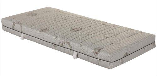 7-Zonen-Taschenfederkernmatratze OrthoMatra ABC Spring, mit waschbarem Bambus-Bezug - Grösse 140x200