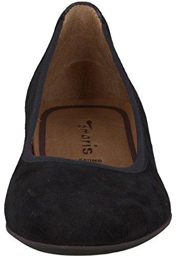 Tamaris Ballerina Nero Patent Nero Patent 1-22100-24 018 Black Suede