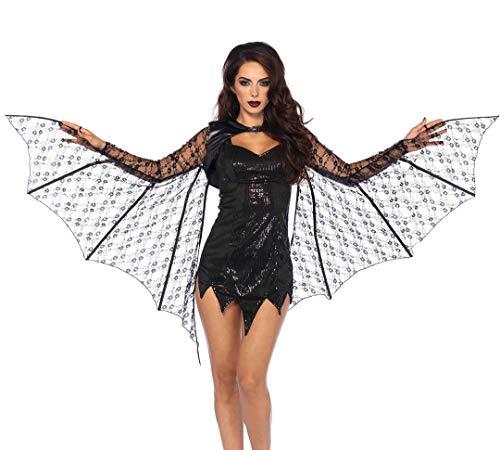 Leg Avenue Damen Kostüm Zubehör Ausfahrbare Fledermausflügel Spitze - Batgirl Kostüm Sexy