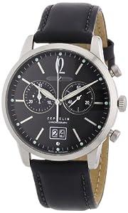 Reloj Zeppelin 73862 de caballero de cuarzo con correa de piel negra de Zeppelin