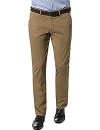 RENÉ LEZARD Herren Chino Baumwolle Stoffhose Unifarben, Größe: 54, Farbe: Braun