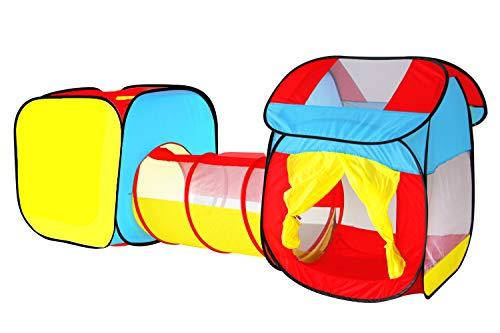 Tenda per Bambini Tunnel Gioco Bimbi Casetta Giardino Tenda Pop Up da Spiaggia Campeggio Esterno Giocattolo Gioco Set Regalo Ragazza per 3 4 5 Anni