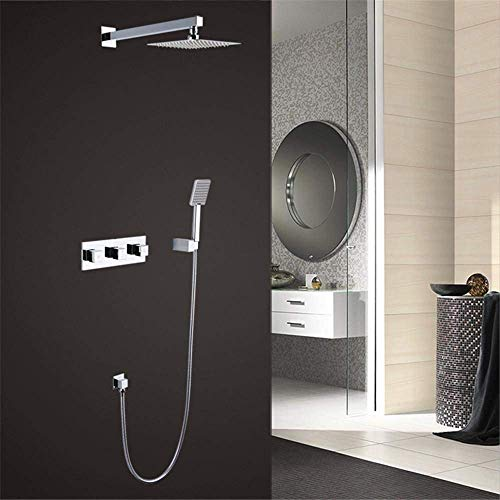 TYG Crop All in Copper Shower with Wall Mounted Faucet and Cold Water Single Lever Shower Set -